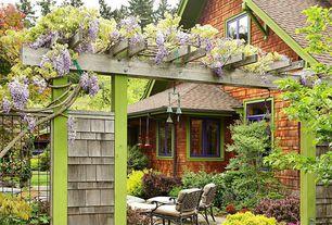 Cottage Landscape/Yard with Paint, Casement, Trellis, Paint 1, shingle siding, Home loft concept griffen 3 piece dining set