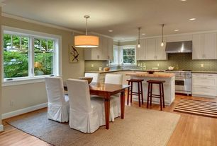 Contemporary room with Kitchen island with seating