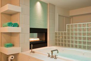 "Modern Master Bathroom with Lea Ceramiche Mako' 12"" x 24"" Porcelain Tile in Linen Beige, Master bathroom"