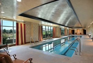 Traditional Swimming Pool with exterior terracotta tile floors, exterior tile floors, Indoor pool