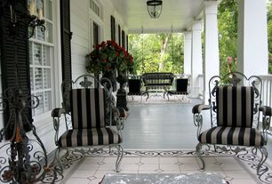 Traditional Porch with Paint 2, Casement, Screened porch, Porch swing, Transom window, exterior terracotta tile floors, Paint