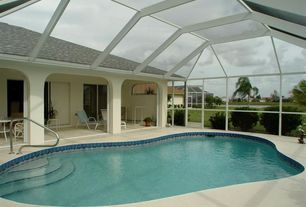 Tropical Swimming Pool with French doors, Indoor pool
