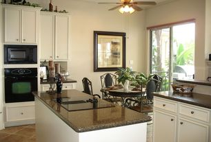 Traditional Kitchen with MS International - Imperial Coffee Granite Countertop, Framed Partial Panel, Standard height