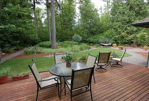 Craftsman Deck with Trellis, Pathway, Fire pit, Raised beds