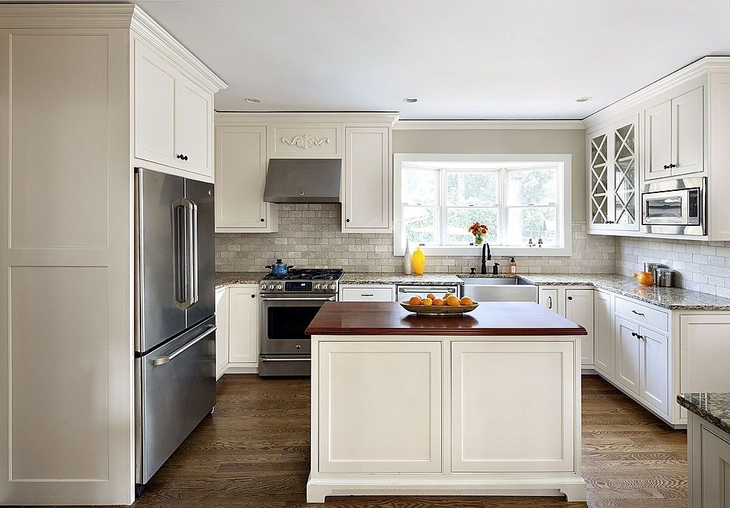 Traditional Kitchen with MS International Granite Boreal, The Tile Shop Birmingham Grey Tumb Amalfi