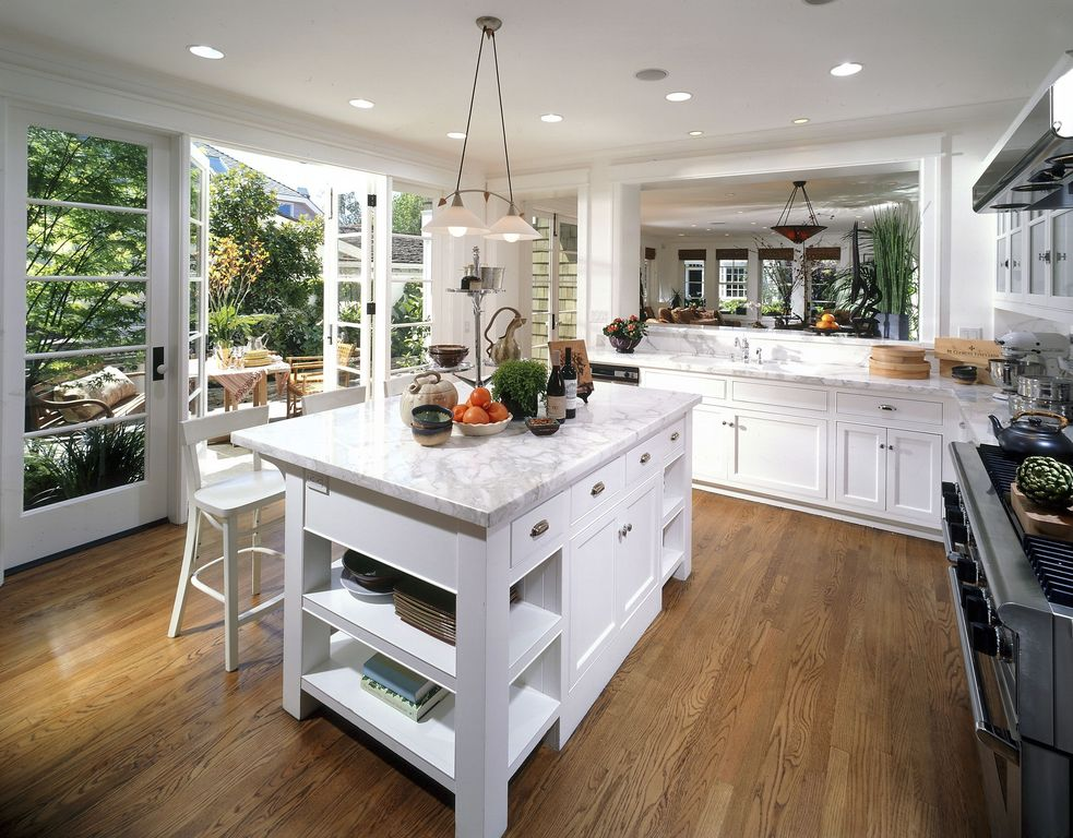 Traditional Kitchen with Sunpan maiden white faux leather bar stool