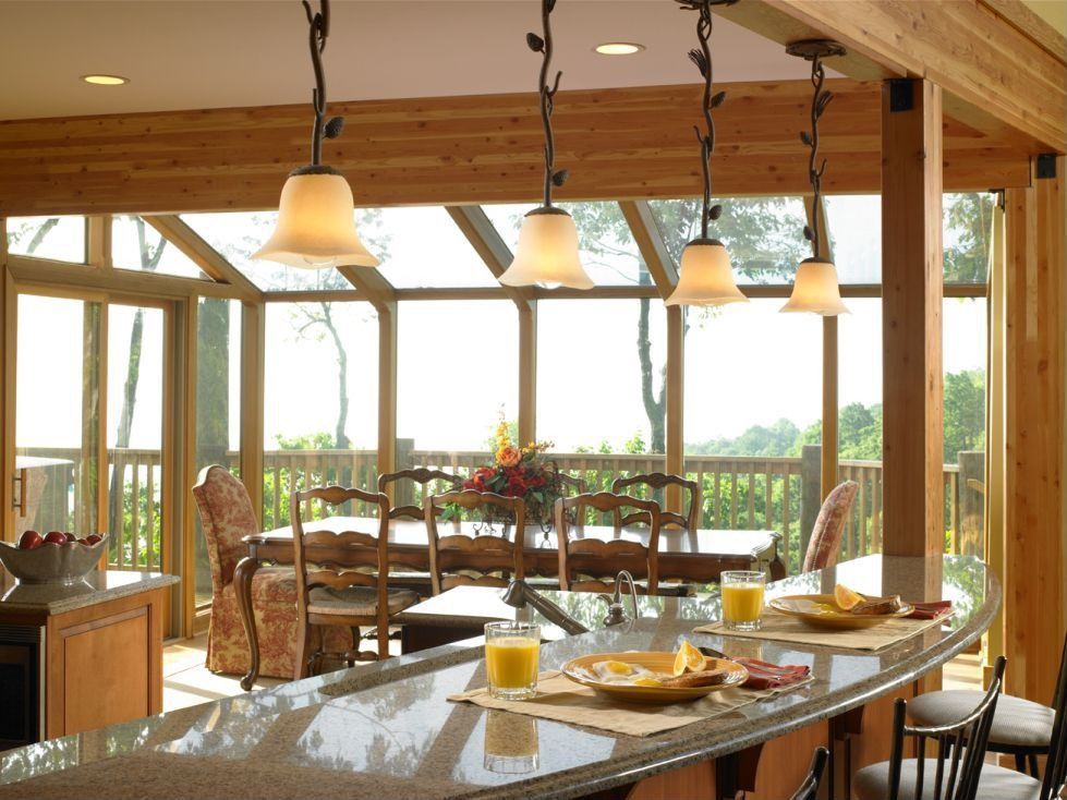 Traditional Kitchen with Pendant light