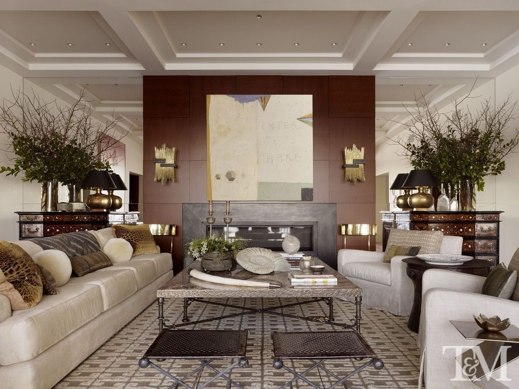 Contemporary Living Room With Carpet By Suzanne Tucker