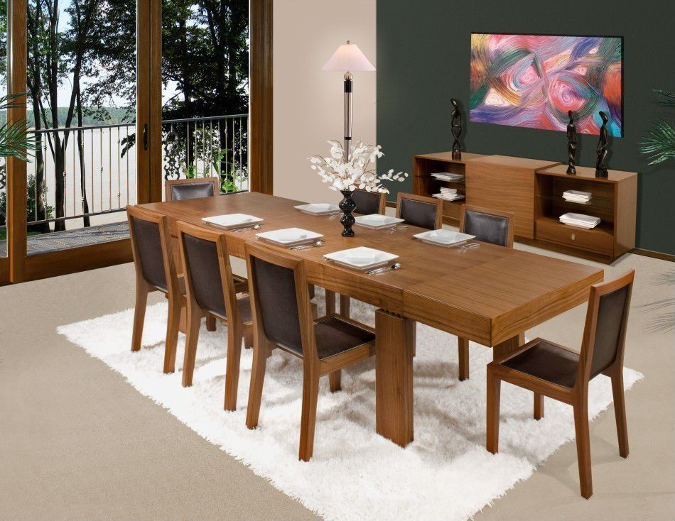 Contemporary Dining Room with French doors, Carpet
