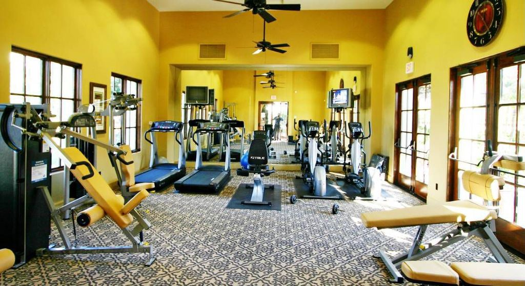 Craftsman Home Gym with High ceiling, Exerpeutic 100XL High Capacity Magnetic Resistance Manual Treadmill, Ceiling fan