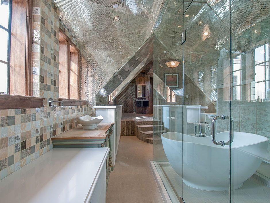 Contemporary Master Bathroom with Arizona tile,  Stone Mosaics, Casa Dolce Casa, Tile & Stone
