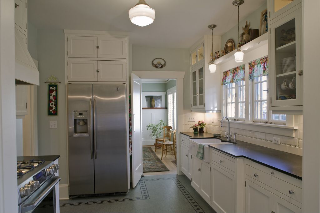 Country Kitchen with Schoolhouse electric - northwestern, Schoolhouse electric - mercer pendant, Paint