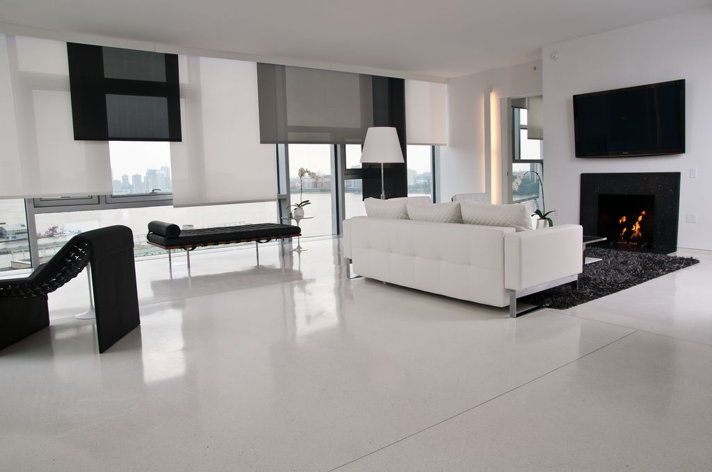 Great contemporary living room zillow digs for Simple modern living room
