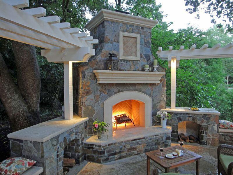 Fire Pit, Mediterranean, Tile, Traditional, Trellis