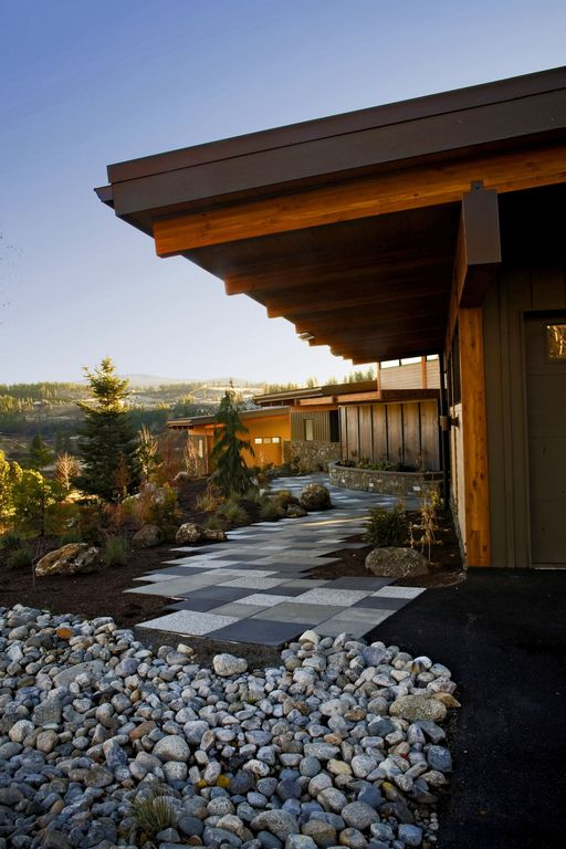 Contemporary, Pathway, Raised Beds, Rustic, Stone