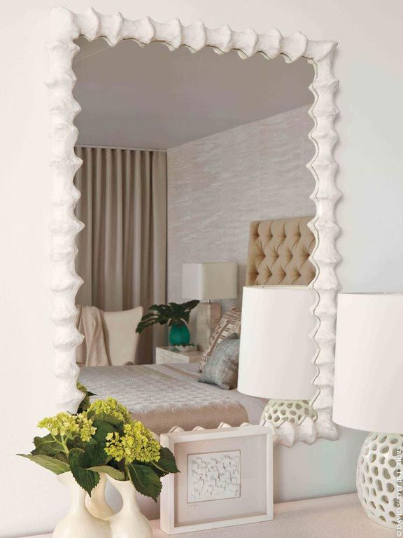 Cottage Master Bedroom with Pottery Barn Lorraine Tufted Upholstered Tall Bed & Headboard, interior wallpaper