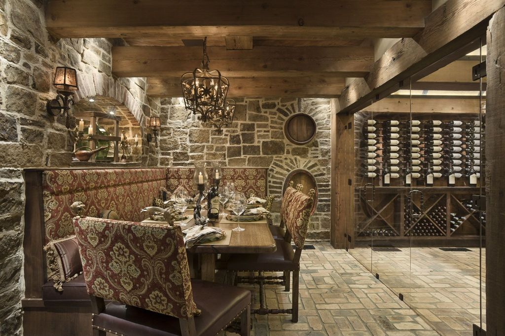 Rustic wine cellar with exposed beam by locati architects zillow digs - Home wine cellar design ideas cool ones ...