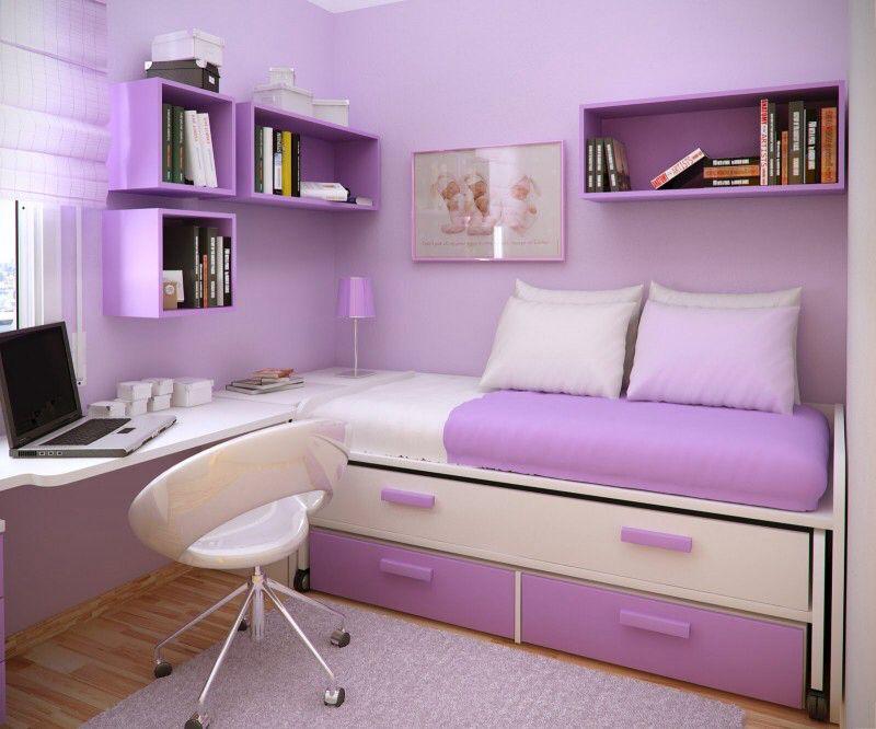 Contemporary Guest Bedroom with Built-in bookshelf, Hardwood floors, Casement, Medic Molded Plastic Swivel Office Chair