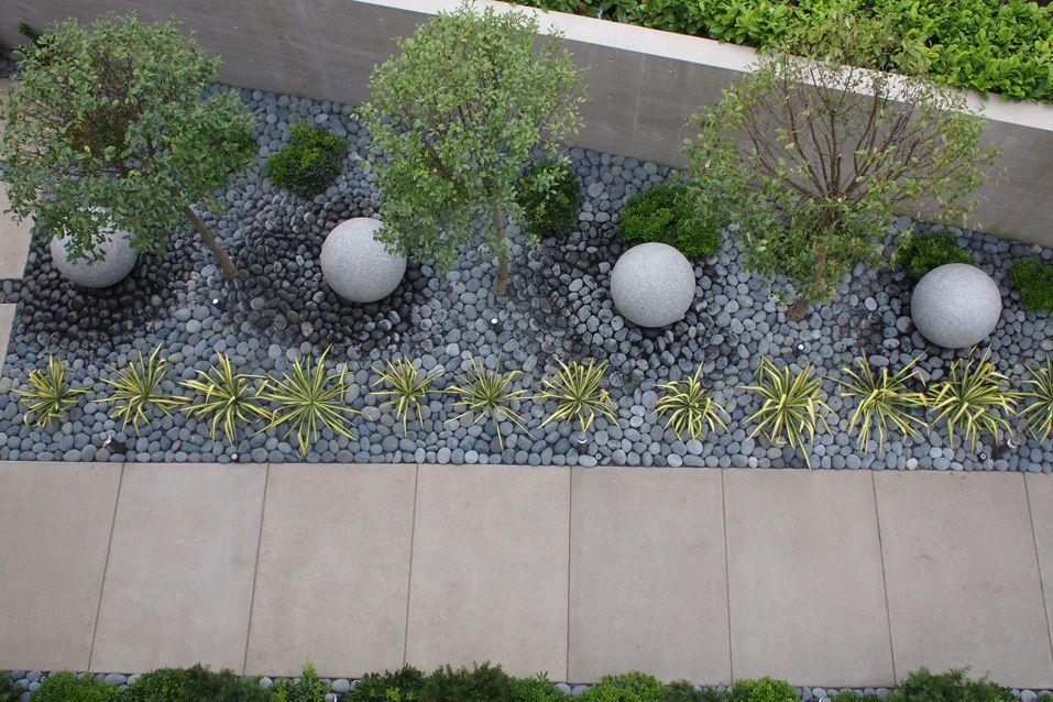 Contemporary Landscape/Yard with Pathway, exterior concrete tile floors, exterior tile floors, Fence