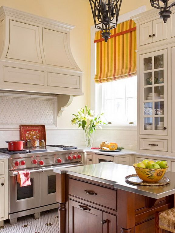 """Traditional Kitchen with Inset cabinets, Wolf GR484DG - 48"""" Gas Range - 4 Burners w/Double Griddle, Pendant light, Paint 1"""