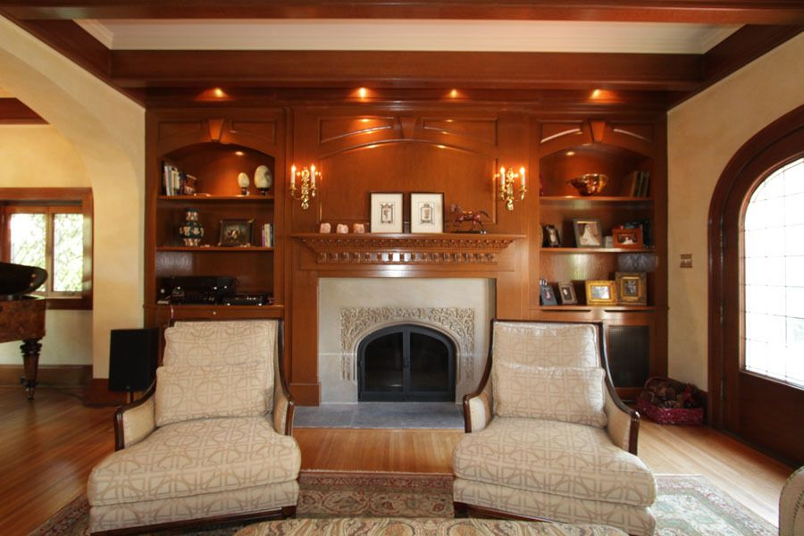 """Traditional Living Room with Bellawood 3/4"""" x 3-1/4"""" select brazilian chestnut, Ethan allen corrine chair, Paint 1"""