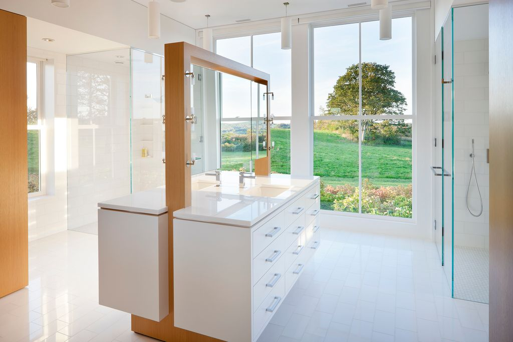 Contemporary Master Bathroom With Flush By Marvin Windows And Doors Zillow Digs