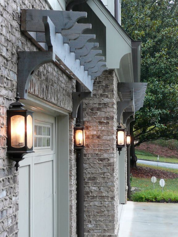 Country Garage with Barn door, Standard height, Wall sconce, Concrete floors