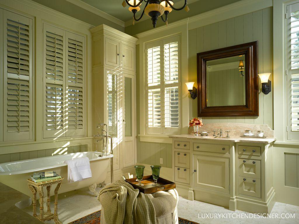 Country Master Bathroom With Freestanding Hampton Bay 1