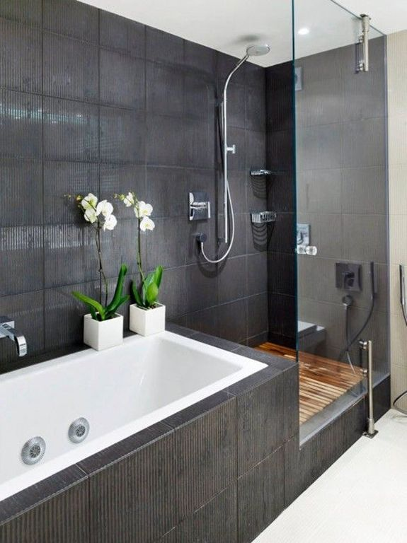 Contemporary Master Bathroom With Elements Of Design Professional Diverter Ha