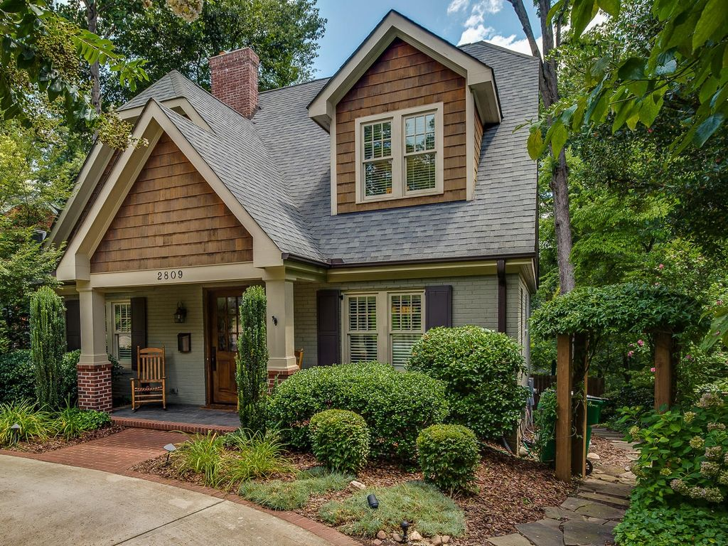 Craftsman exterior of home with glass panel door arbor in charlotte nc zillow digs - Craftsman home exterior ...