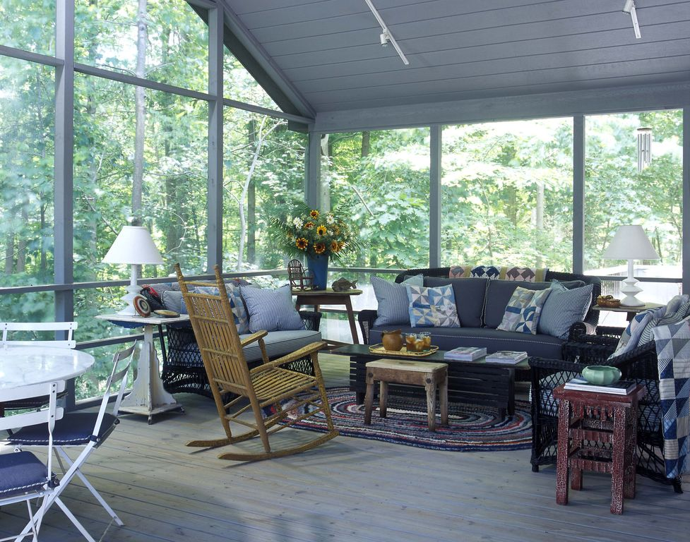 Cottage, Rustic, Screened Porch