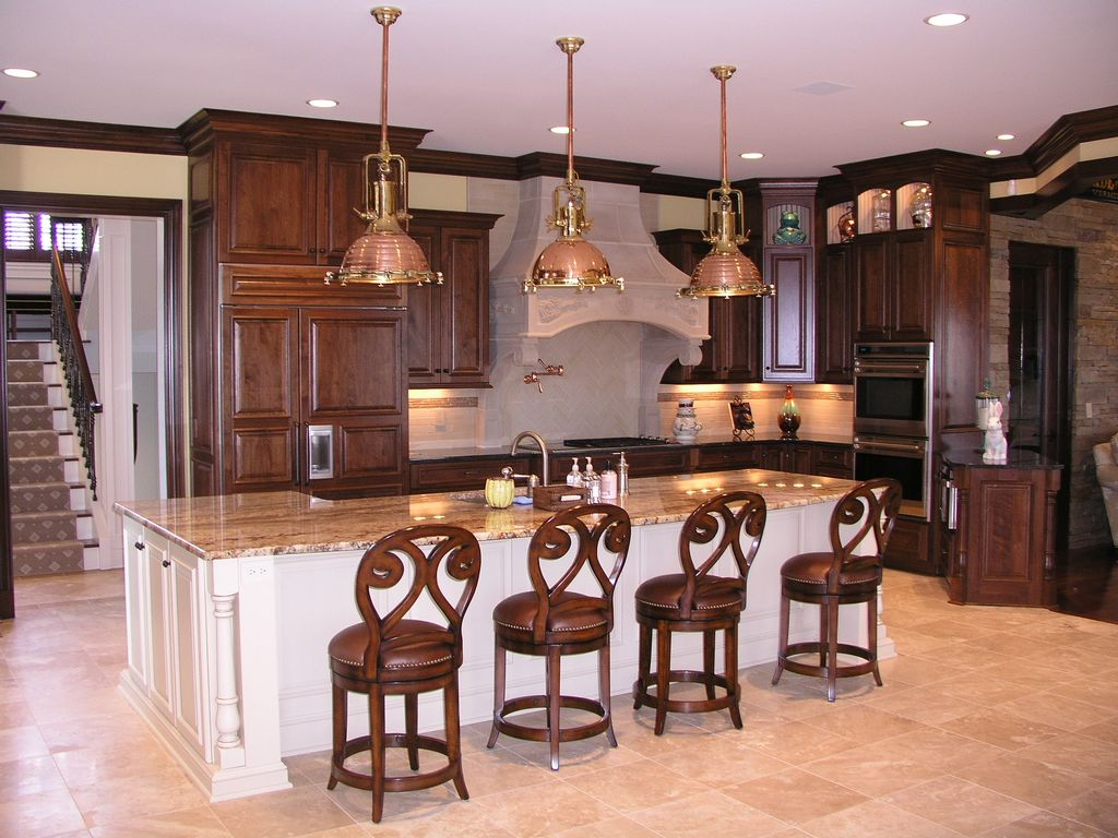Breakfast Bar, Crown molding, L-Shaped, Limestone, Normal (2.7m), Pendant, Raised Panel, Sandstone, Subway, Traditional, Undermount