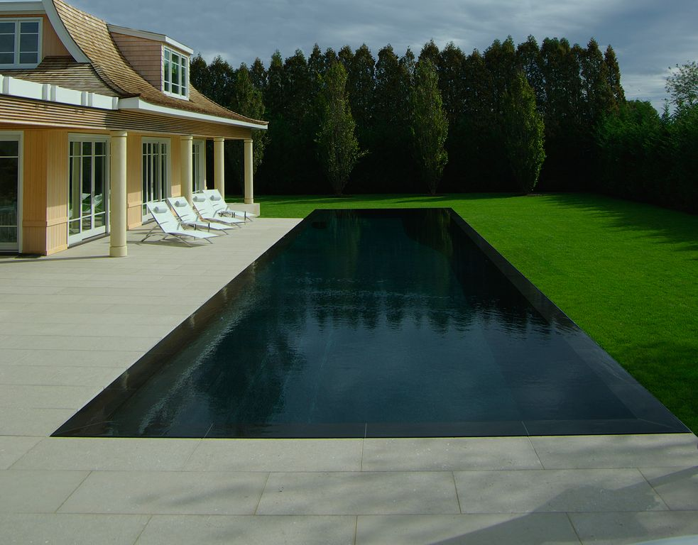 Traditional Swimming Pool with Private backyard, Outdoor pool, Lugano Chaise Velour Cover, Transom window, Lap pool, Pathway