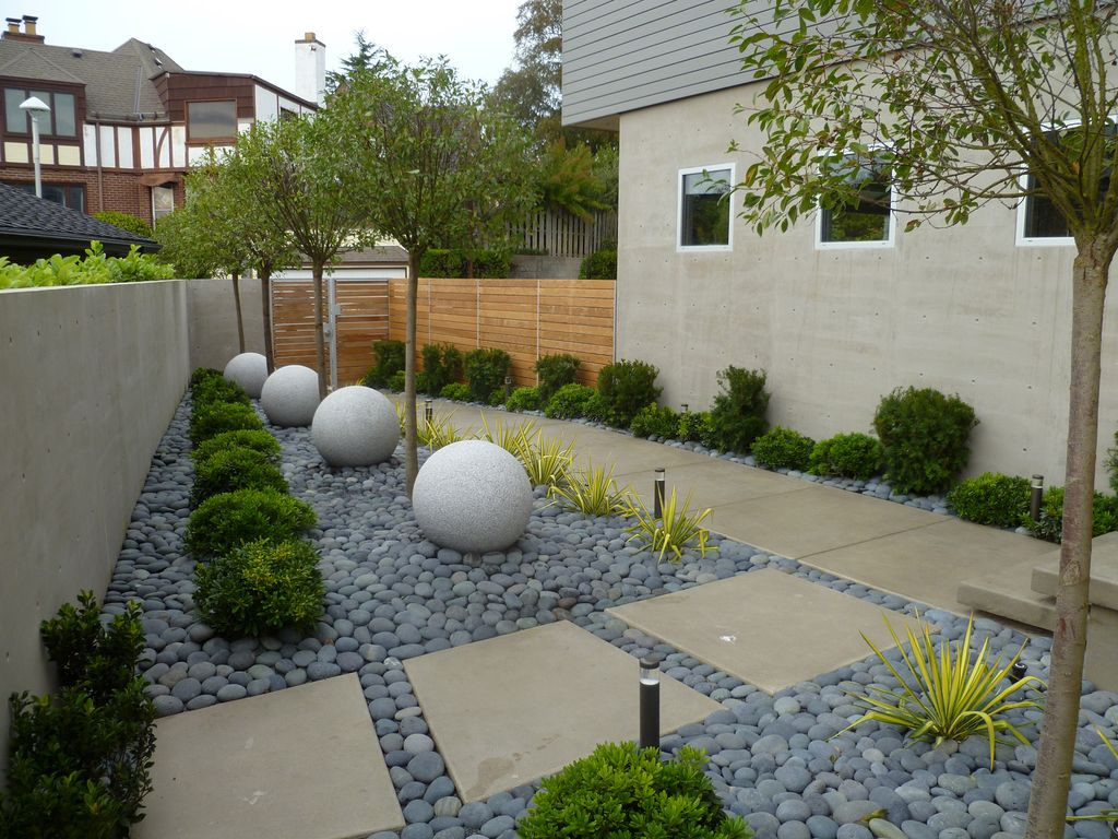 Great contemporary landscape and yard zillow digs for Beach rocks for landscaping