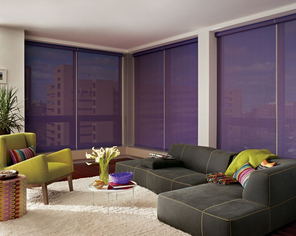 Contemporary Living Room with Blindsgalor expressions roller shades: solids, West elm tillary 6-piece sectional