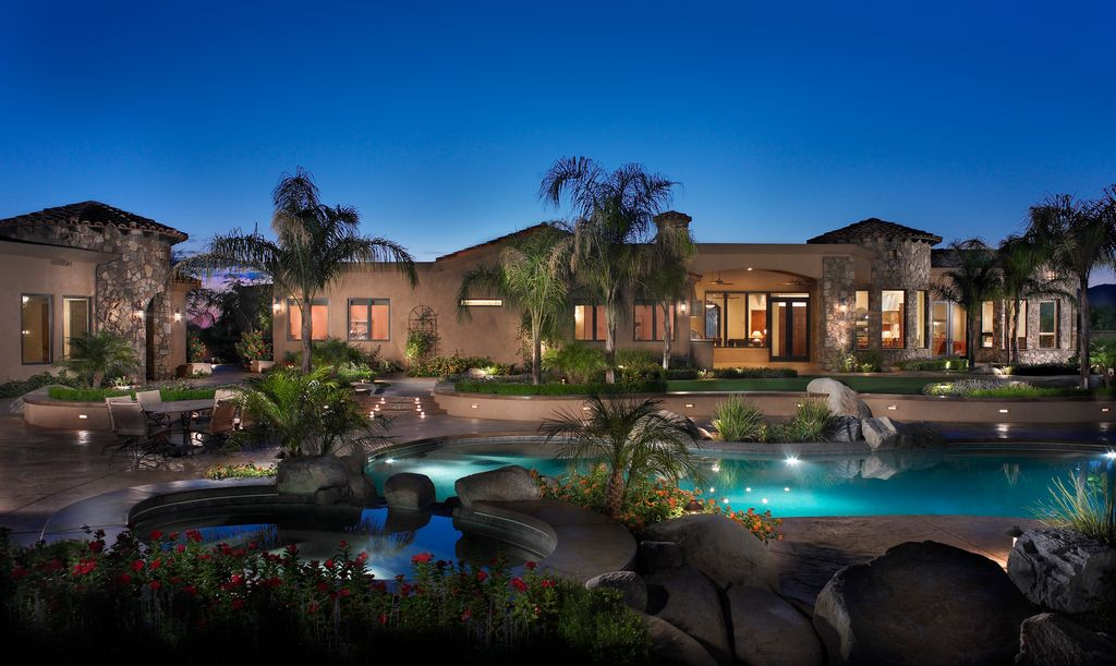 Mediterranean Patio with Casement, Fence, Outdoor kitchen, French doors, Raised beds, exterior stone floors