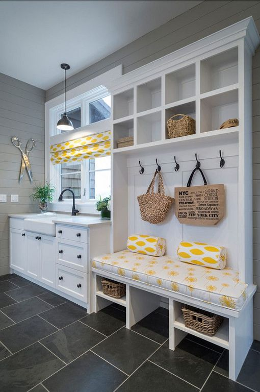 Mud Room With Built in Bookshelf amp Pendant Light Zillow Digs