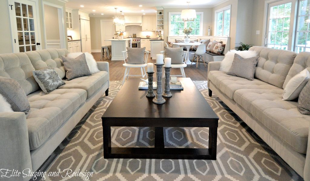 Contemporary Living Room With Carpet By Elite Staging And
