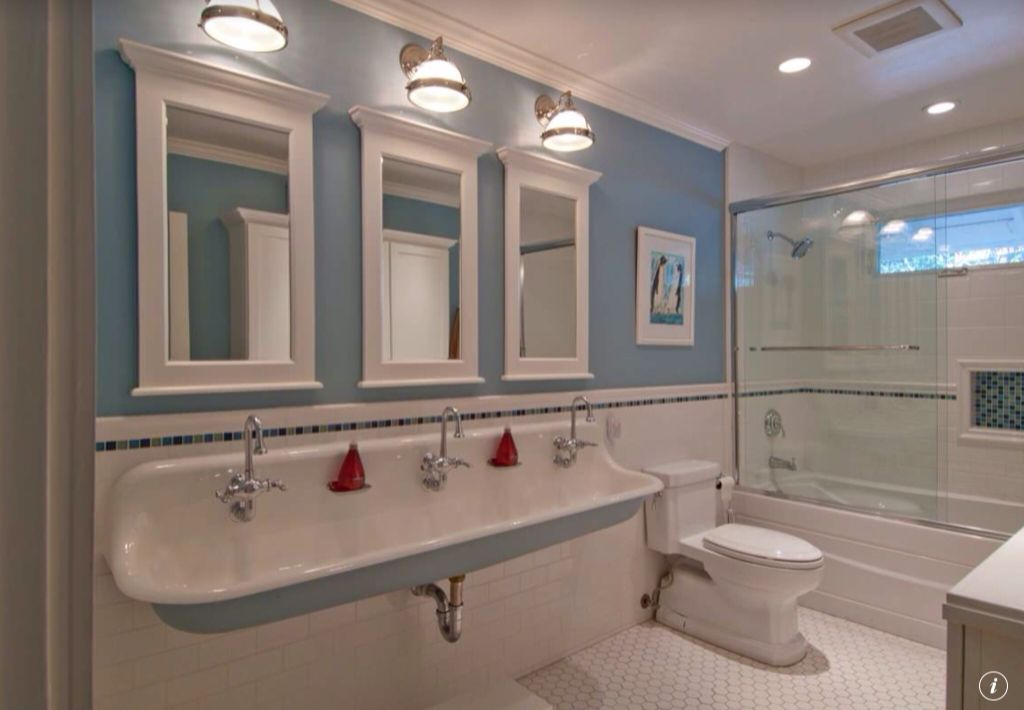 Traditional Full Bathroom with penny tile floors, Ceramic surface bullnose wall tile, Metro hex mosaic floor and wall tile