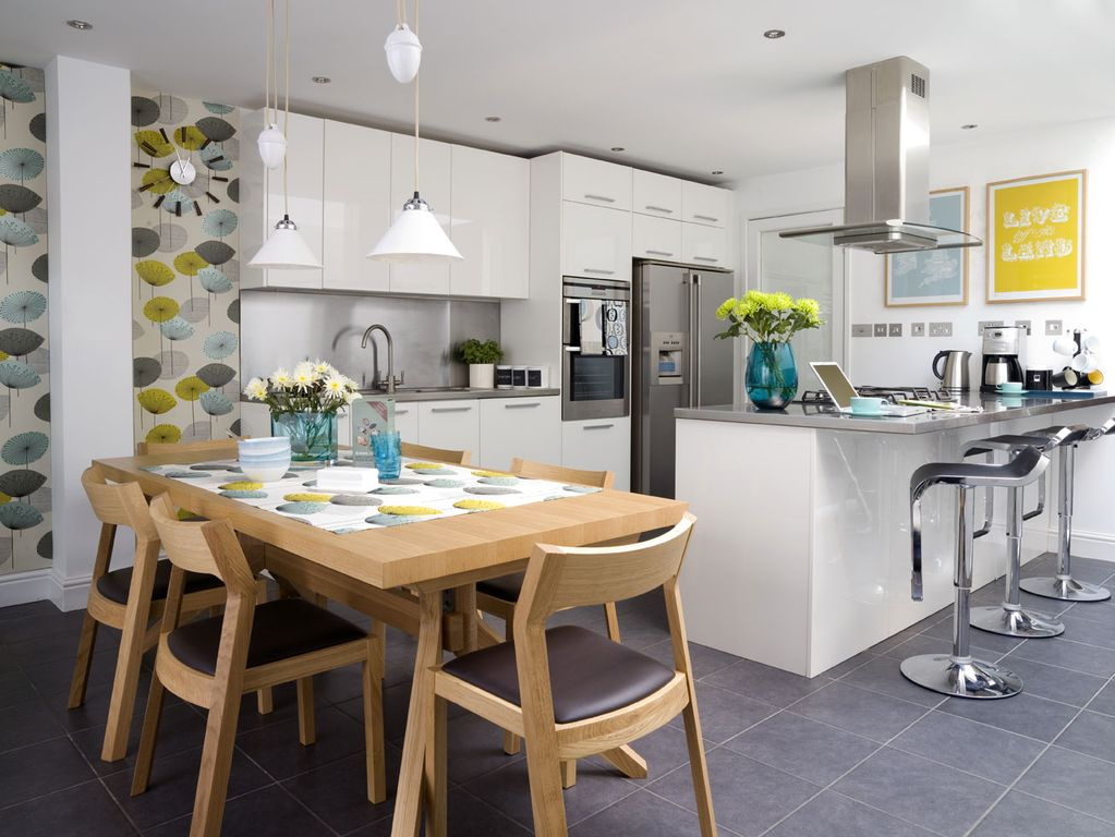 Contemporary Kitchen with Flush, full backsplash, Stainless steel counters, French doors, Stainless Steel, European Cabinets