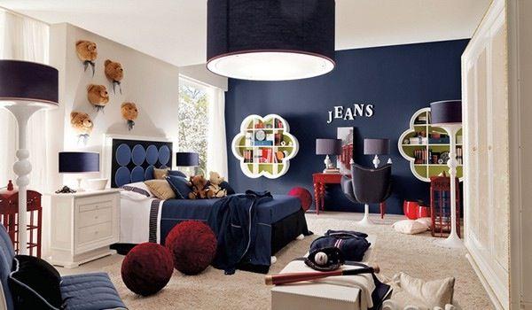 Contemporary Kids Bedroom with Pendant light, no bedroom feature, Paint 2, High ceiling, AltaModa Jonny 01, Carpet, Paint 1