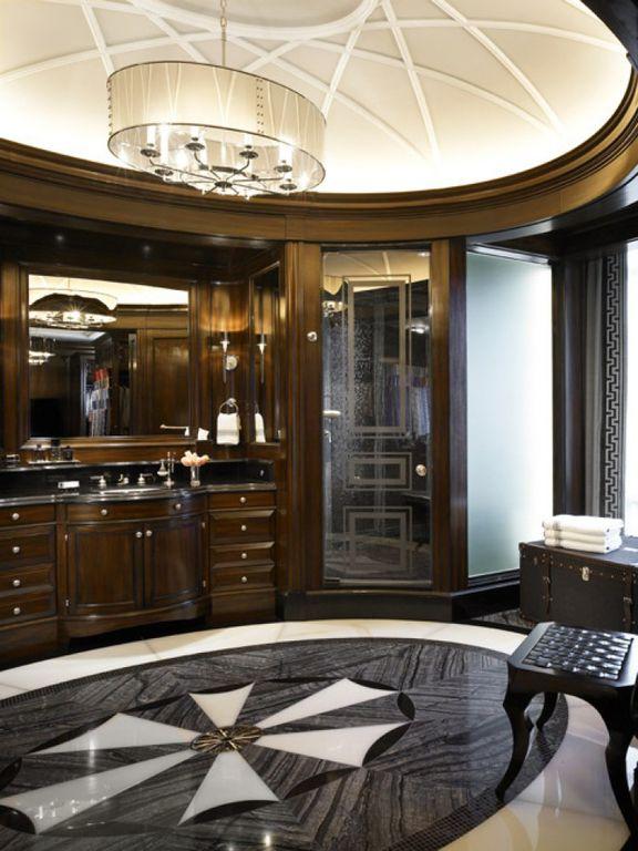 Traditional Master Bathroom with Simple Granite, Standard height, Framed Partial Panel, Chandelier, frameless showerdoor