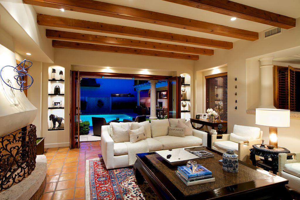 Living Room With Carpet Terracotta Tile Floors In Coronado CA Zillow