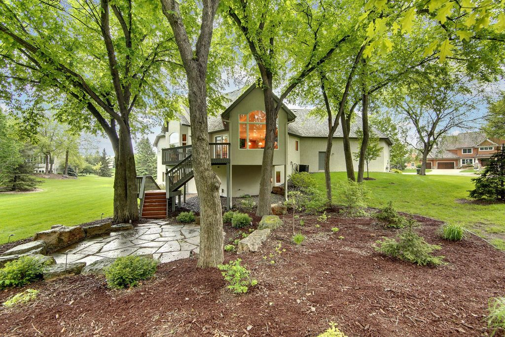 Traditional Landscape/Yard with French doors, Pathway, Deck Railing, Arched window, Raised beds, exterior stone floors