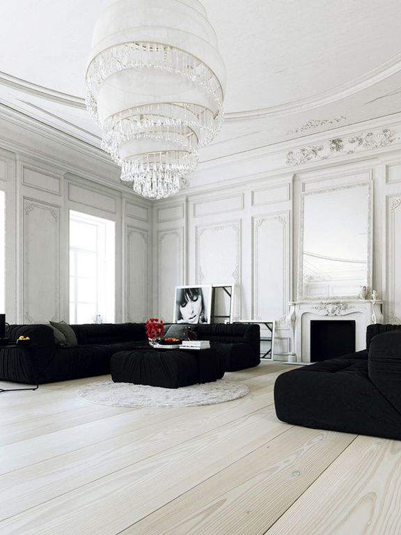 Contemporary Living Room with Crown molding, Hardwood floors, Bonaldo nuvola italian sectional sofa 4 by guiseppe vigano