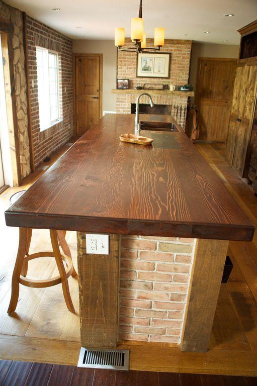 Craftsman Kitchen with Kitchen island, Casement, Flush, can lights, Fireplace, Undermount sink, specialty door, Chandelier