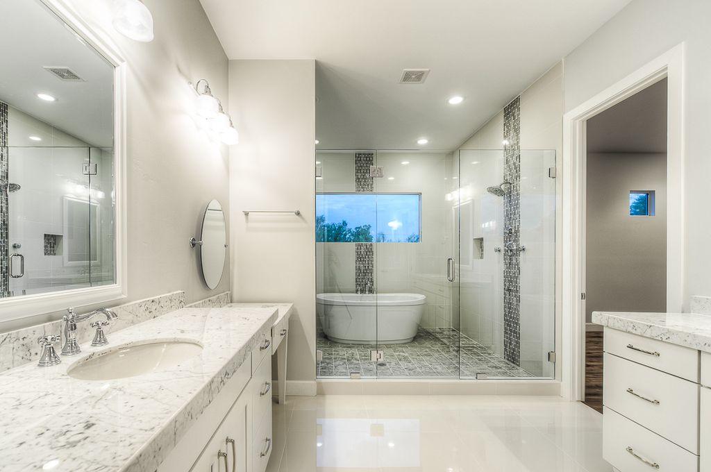 Tan bathroom