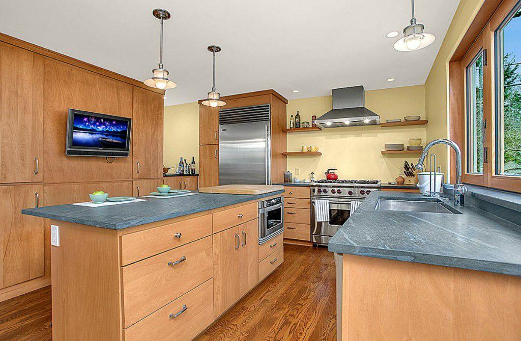 Modern Kitchen With European Cabinets Kitchen Island In