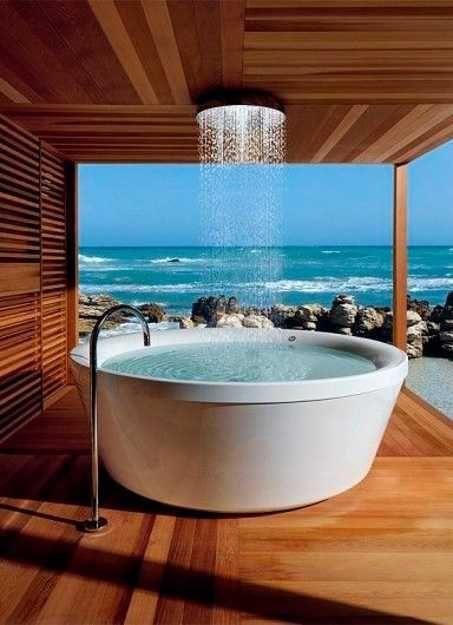 Eclectic Master Bathroom with shower bath combo, Master bathroom, Bathtub, Freestanding, Rain shower, Shower, Standard height