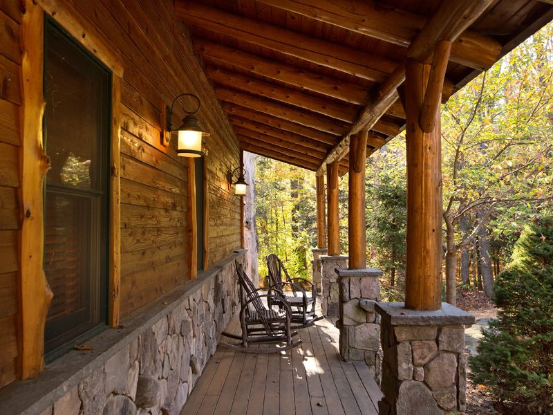 Rustic Porch with Pathway, Screened porch